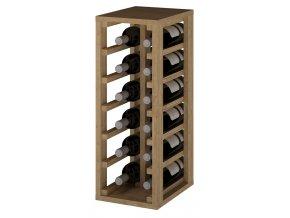 Regál na víno PETÍN I (Materiál a odstín Borovice s odstínem světlý dub)