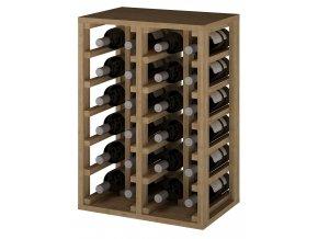 Regál na víno PETÍN II (Materiál a odstín Borovice s odstínem světlý dub)