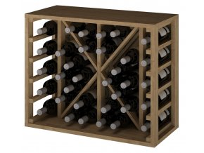 Regál na víno TORAL III (Materiál a odstín Borovice s odstínem světlý dub)
