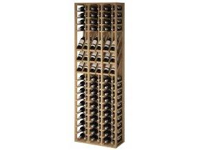 Regál na víno VILLAFRANCA II (Materiál a odstín Borovice s odstínem světlý dub)