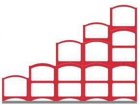 Weinregalsatz Bloc Cellier Steps - rot