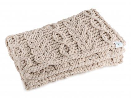 dětská pletená deka - béžová