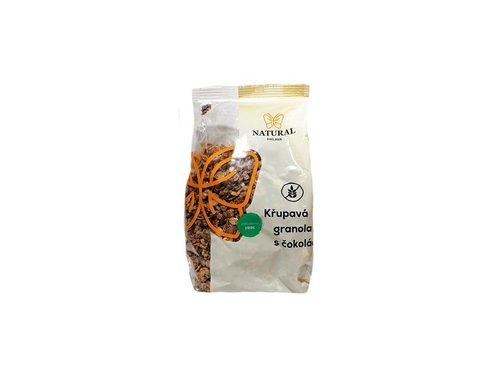 Granola s cokoladou 300g natural jihlava