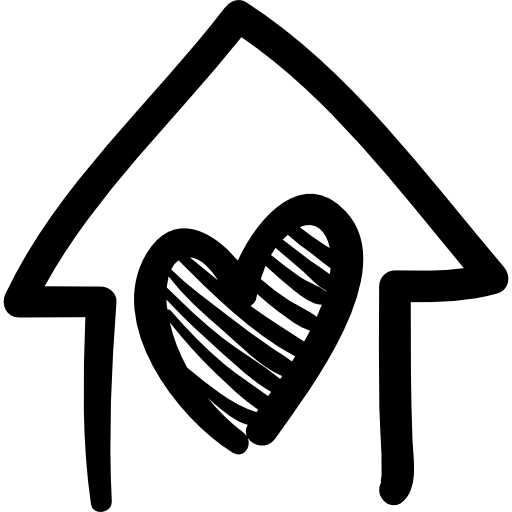 house-with-heart-hand-drawn-building
