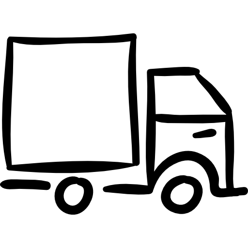 truck-hand-drawn-outlined-vehicle