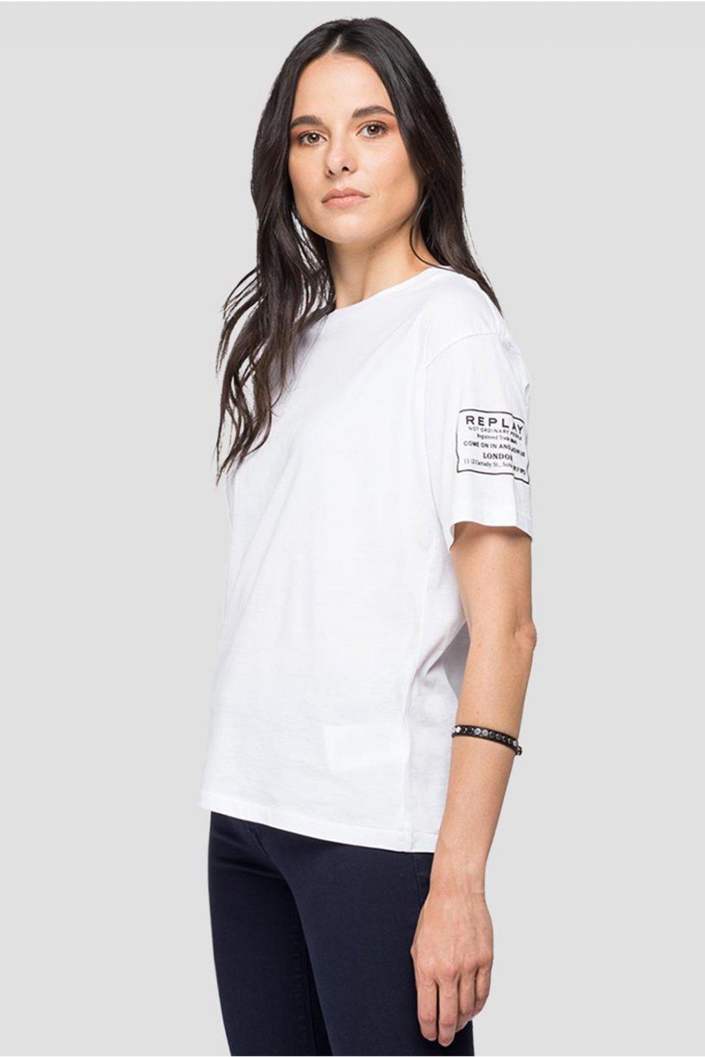 Dámské tričko Replay Jersey bilá