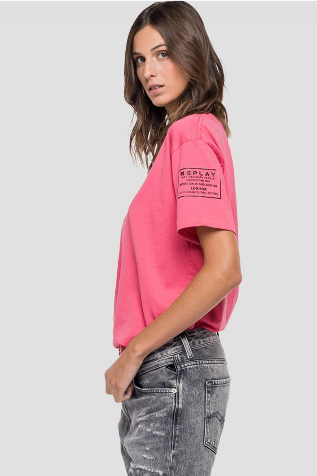 Dámské tričko Replay Jersey růžové