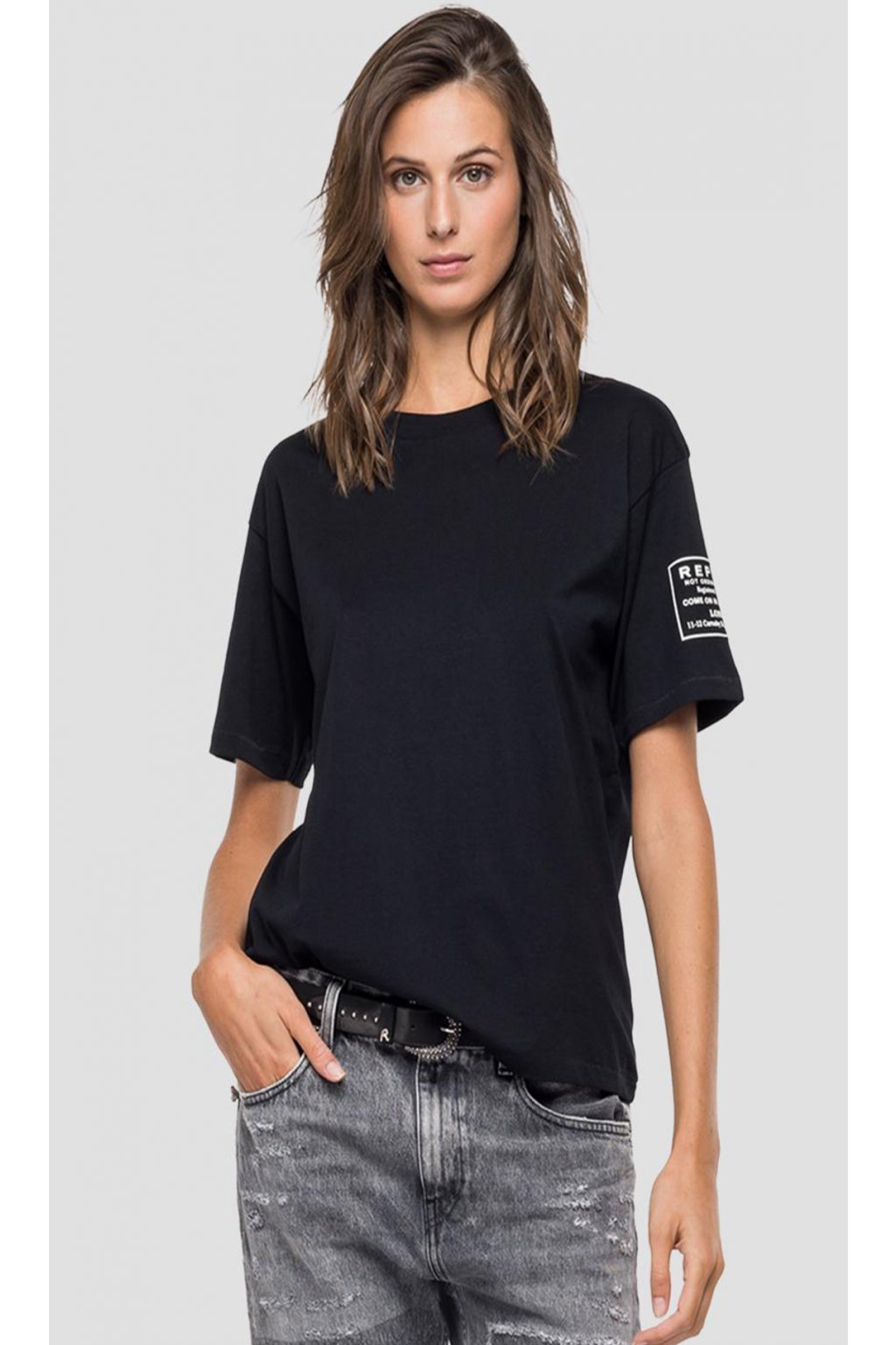Dámské tričko Replay in Jersey černé
