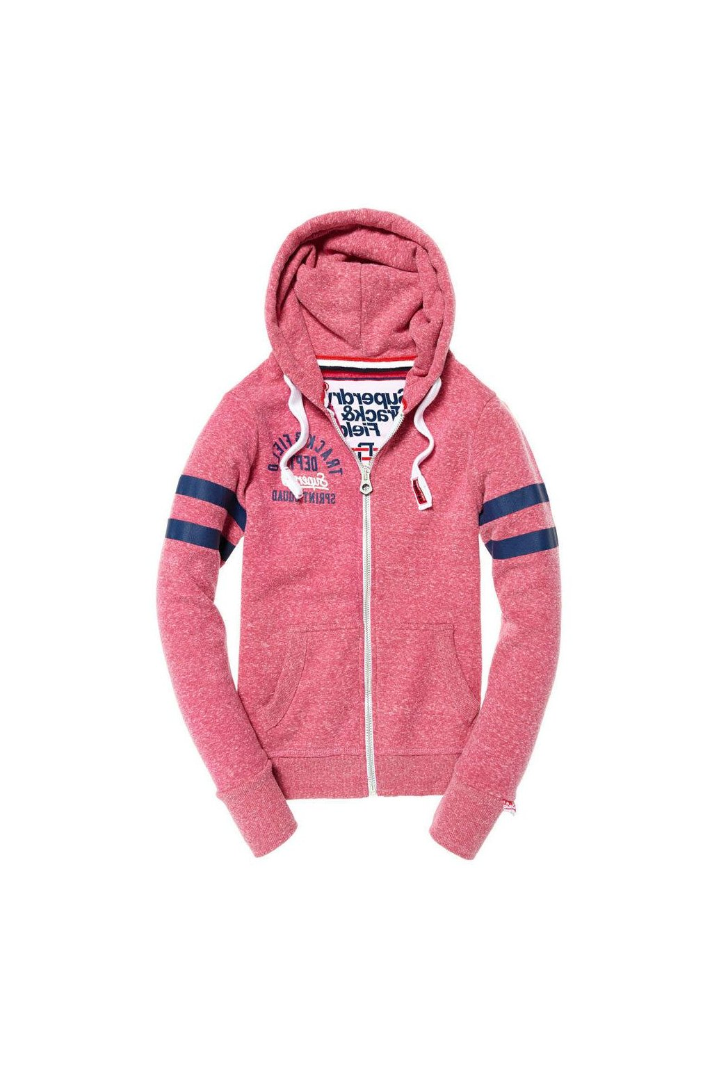 women s cherry snowy trackster full zip