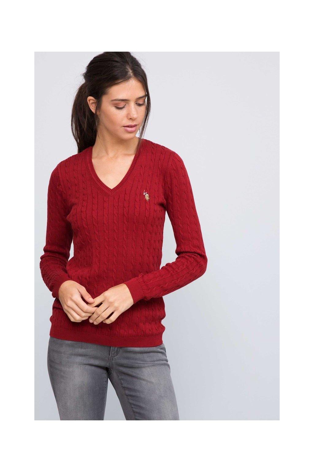 Dámský svetr U.S Polo Assn. Red