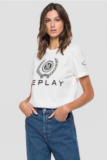 Dámské tričko Replay z organické bavlny s potiskem