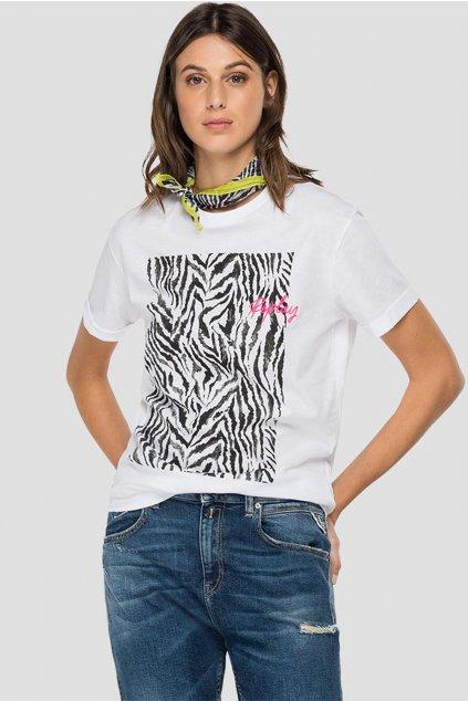 replay damske triko zebra