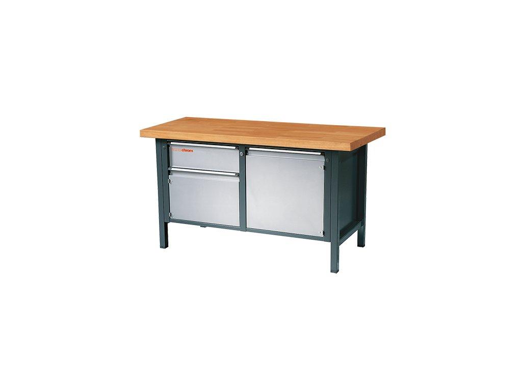 Dílenský stůl TM GE 232 V ZBP – s kovovou zinkovanou deskou