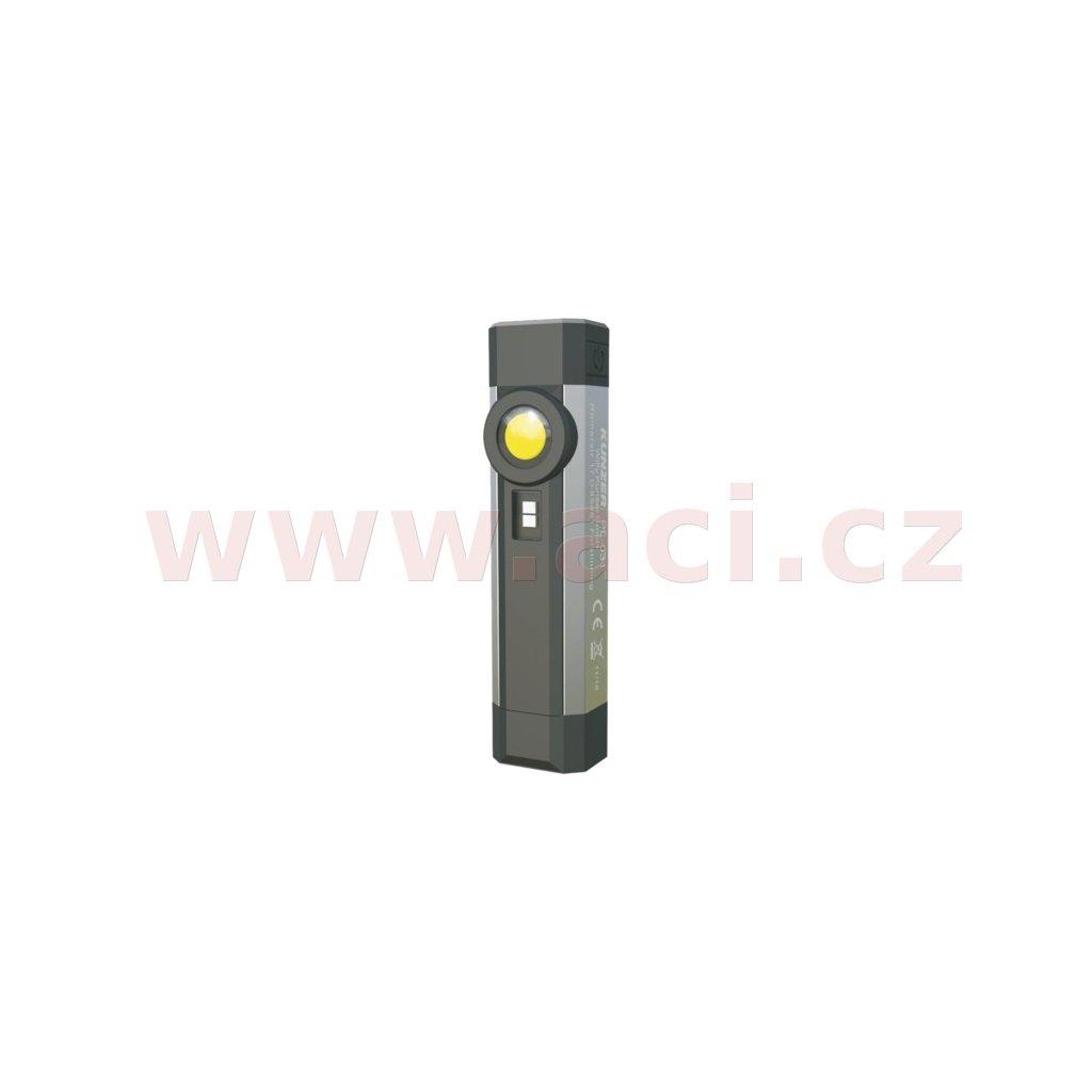 pracovní svítilna LED + UV světlo, nabíjecí, s magnetem