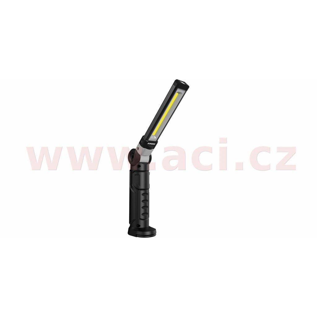 pracovní svítilna LED, nabíjecí, s magnetem a uchem pro zavěšení