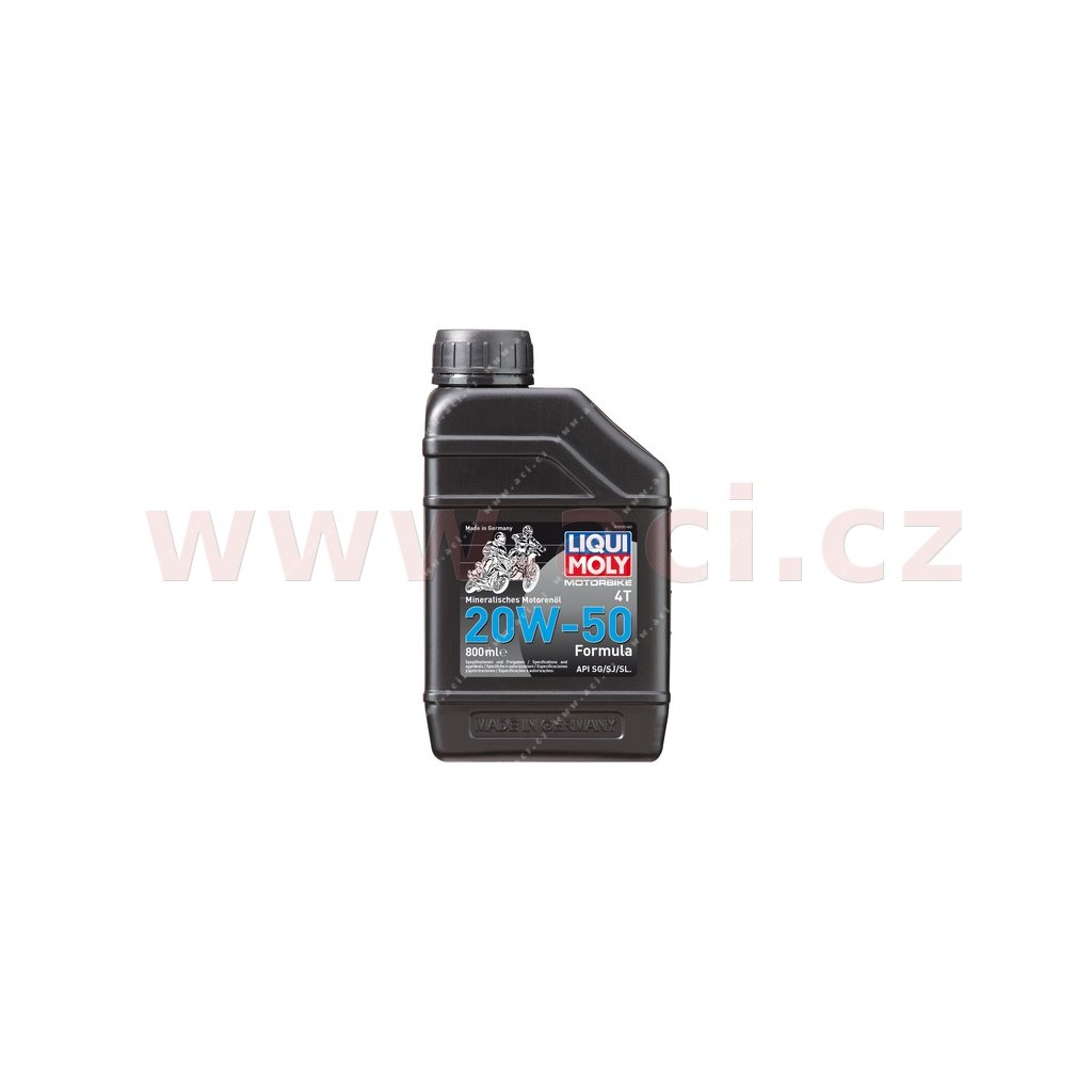 LIQUI MOLY Motorbike 4T 20W50 Formula, minerální motorový olej 800 ml