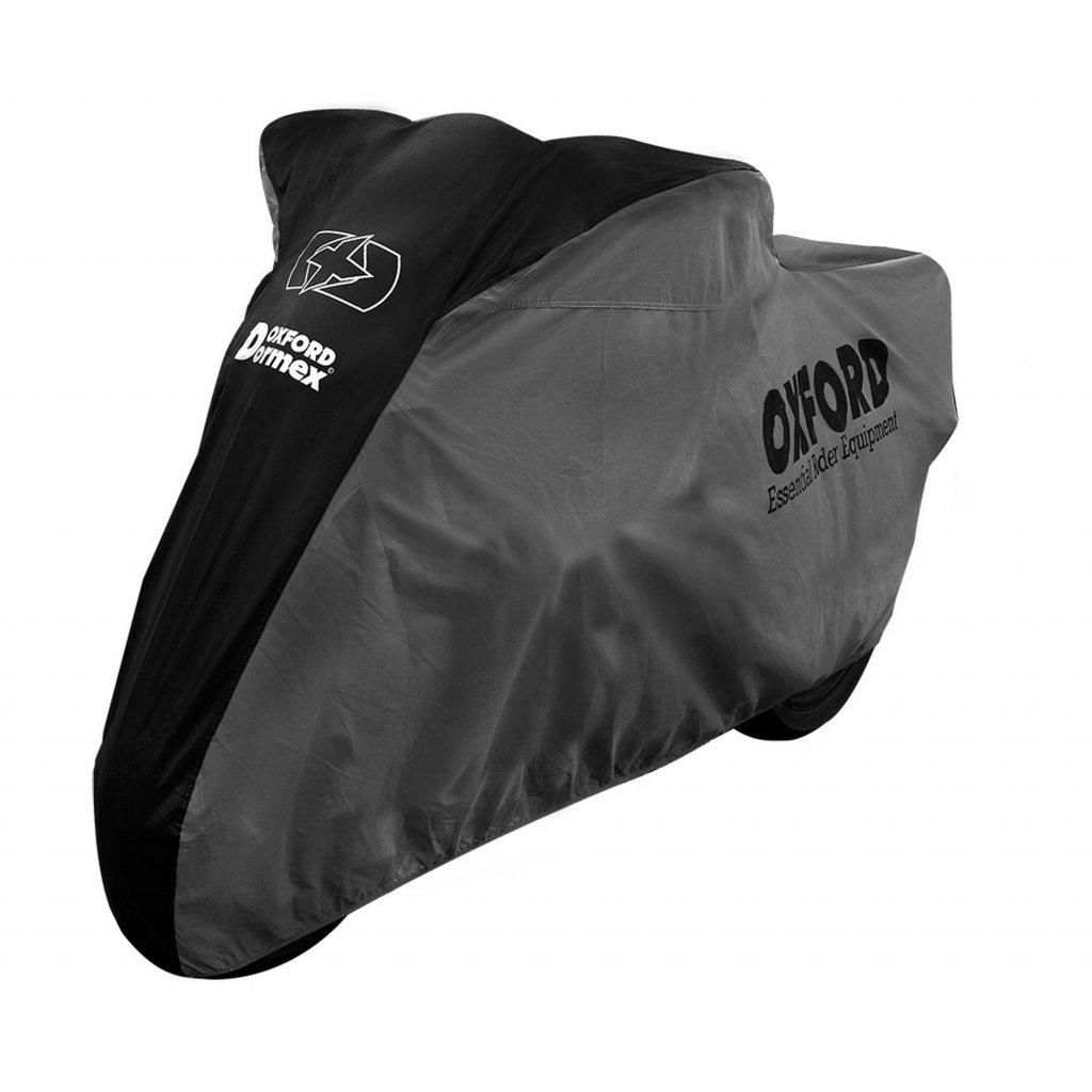 plachta na motorku Dormex interierová, OXFORD (černá/šedá)