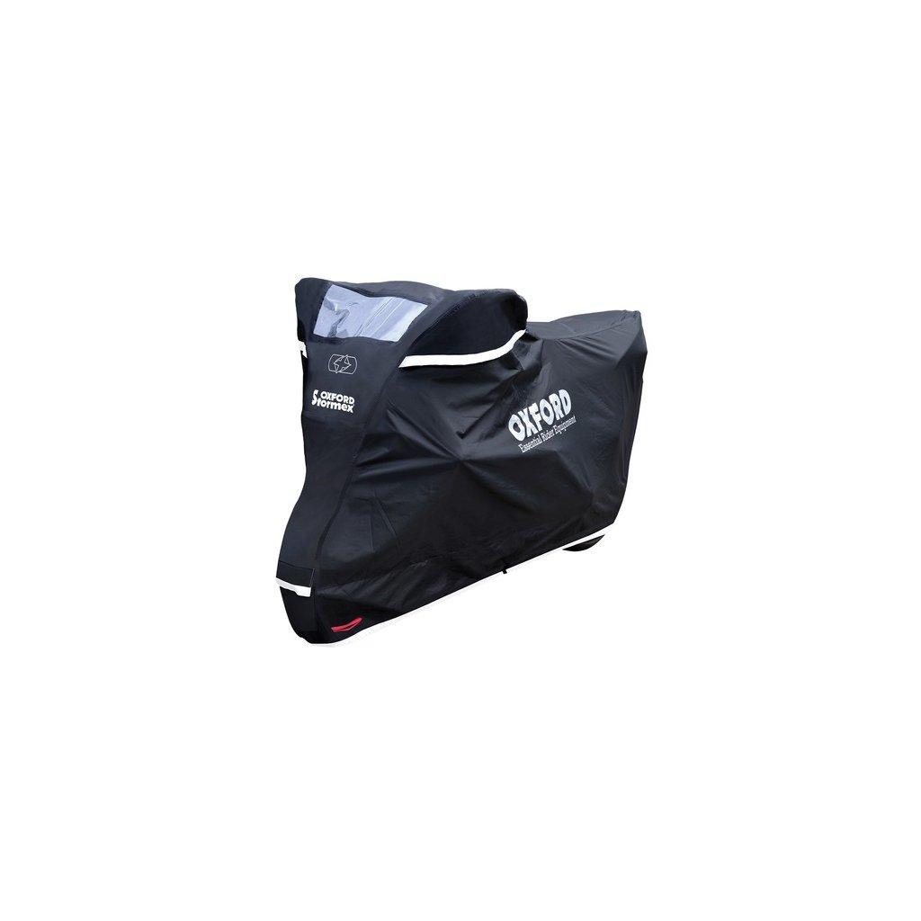 plachta na motorku Stormex, OXFORD (černá)