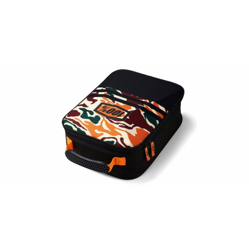 kufr na motokrosové brýle, 100% - USA (černá/kamo)
