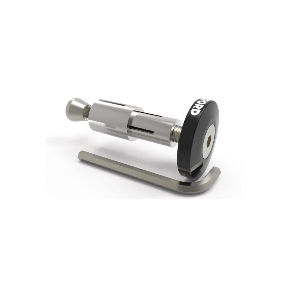 závaží řídítek Bar Ends 2 s konusem pro vnitřní průměr 13 a 18 mm (vnější 22 a 28,6 mm), OXFORD - Anglie (černé, pár)