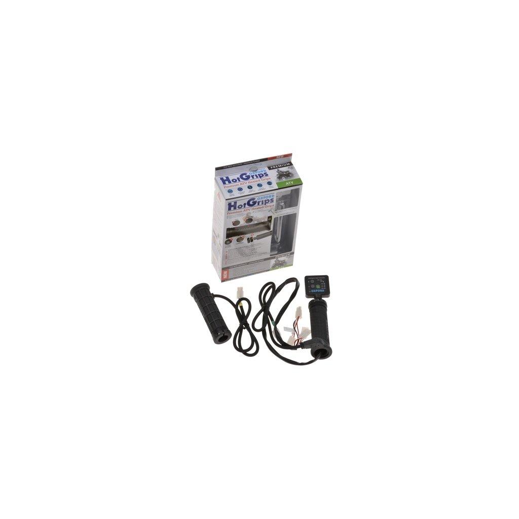 gripy vyhřívané Hotgrips Premium ATV, OXFORD - Anglie (upravitelná délka gripu 119-138 mm)