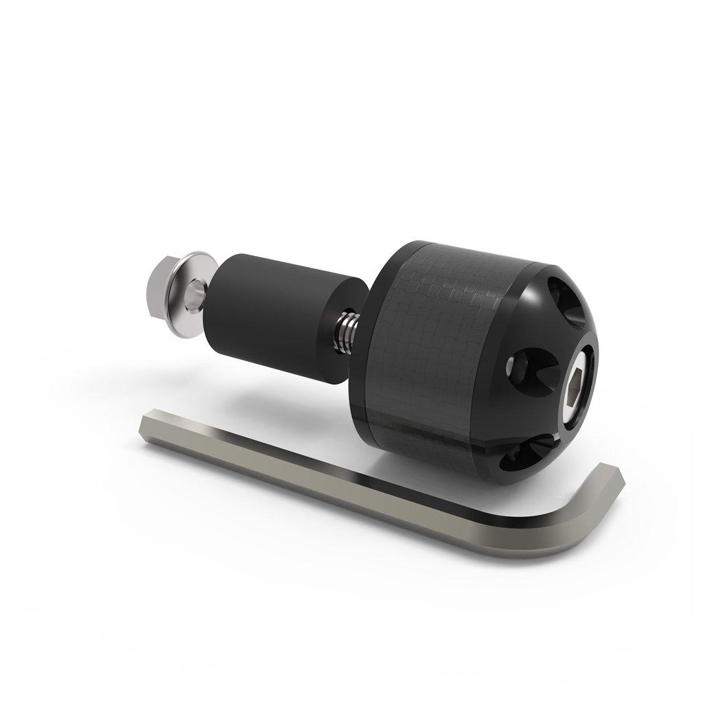 závaží řídítek Carb Ends s redukcí pro vnitřní průměr 18 mm (vnější 28,6 mm), OXFORD - Anglie (černé, pár)