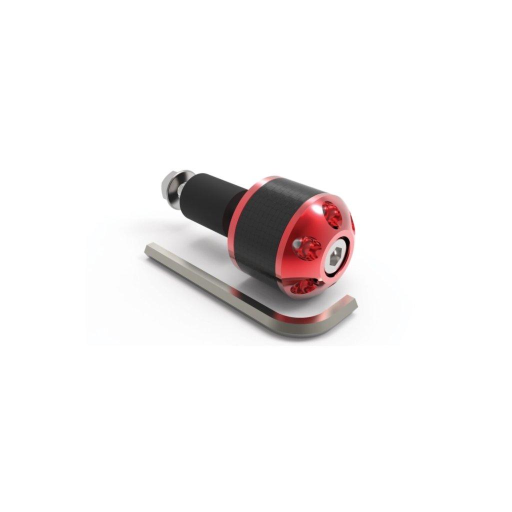 závaží řídítek Carb Ends s redukcí pro vnitřní průměr 18 mm (vnější 28,6 mm), OXFORD - Anglie (červené, pár)