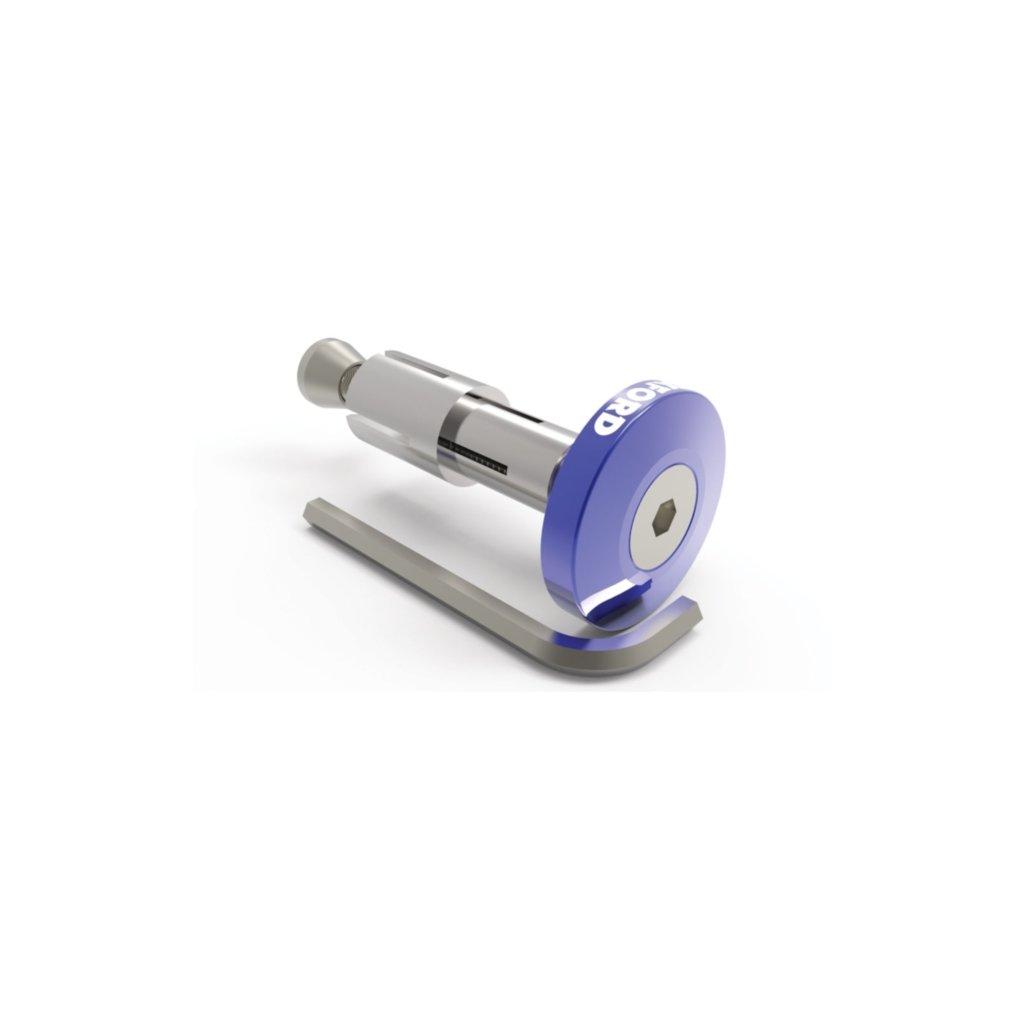 závaží řídítek Bar Ends 2 s konusem pro vnitřní průměr 13 a 18 mm (vnější 22 a 28,6 mm), OXFORD - Anglie (modré, pár)