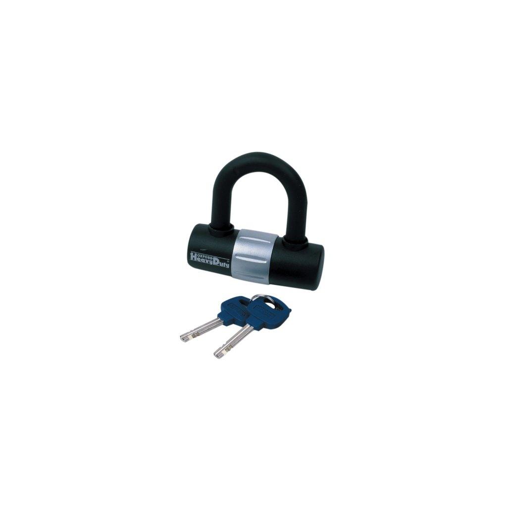 zámek U profil HD Mini, OXFORD - Anglie (černý/stříbrný, průměr čepu 14 mm)