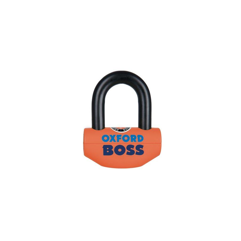 zámek U profil Boss, OXFORD - Anglie (oranžový/černý, průměr čepu 12,7 mm)