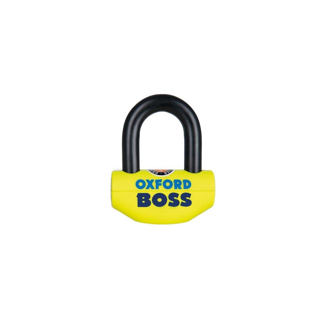 zámek U profil Boss, OXFORD - Anglie (žlutý/černý, průměr čepu 12,7 mm)