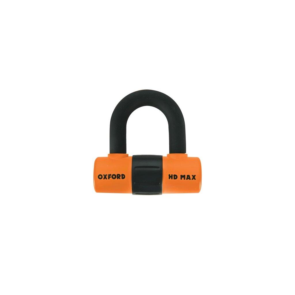 zámek U profil HD Max, OXFORD (oranžový/černý, průměr čepu 14 mm)