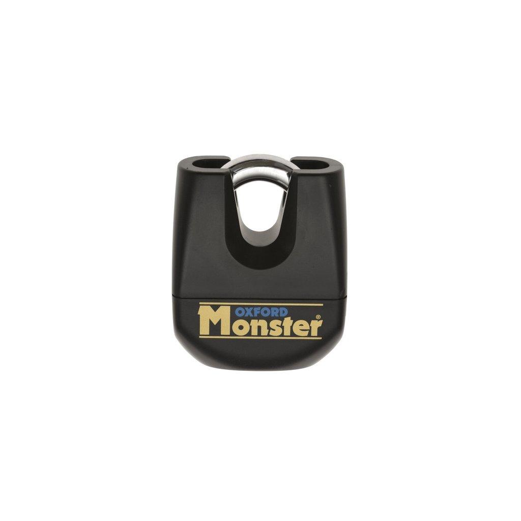 zámek kotoučové brzdy Monster, OXFORD (snížená verze vhodná pro řetěz zámky, průměr čepu 16 mm, černý)