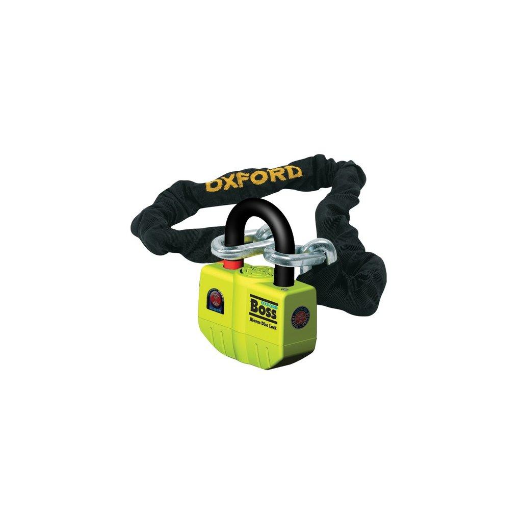řetězový zámek na motocykl Boss Alarm, OXFORD (délka 1,5 m)