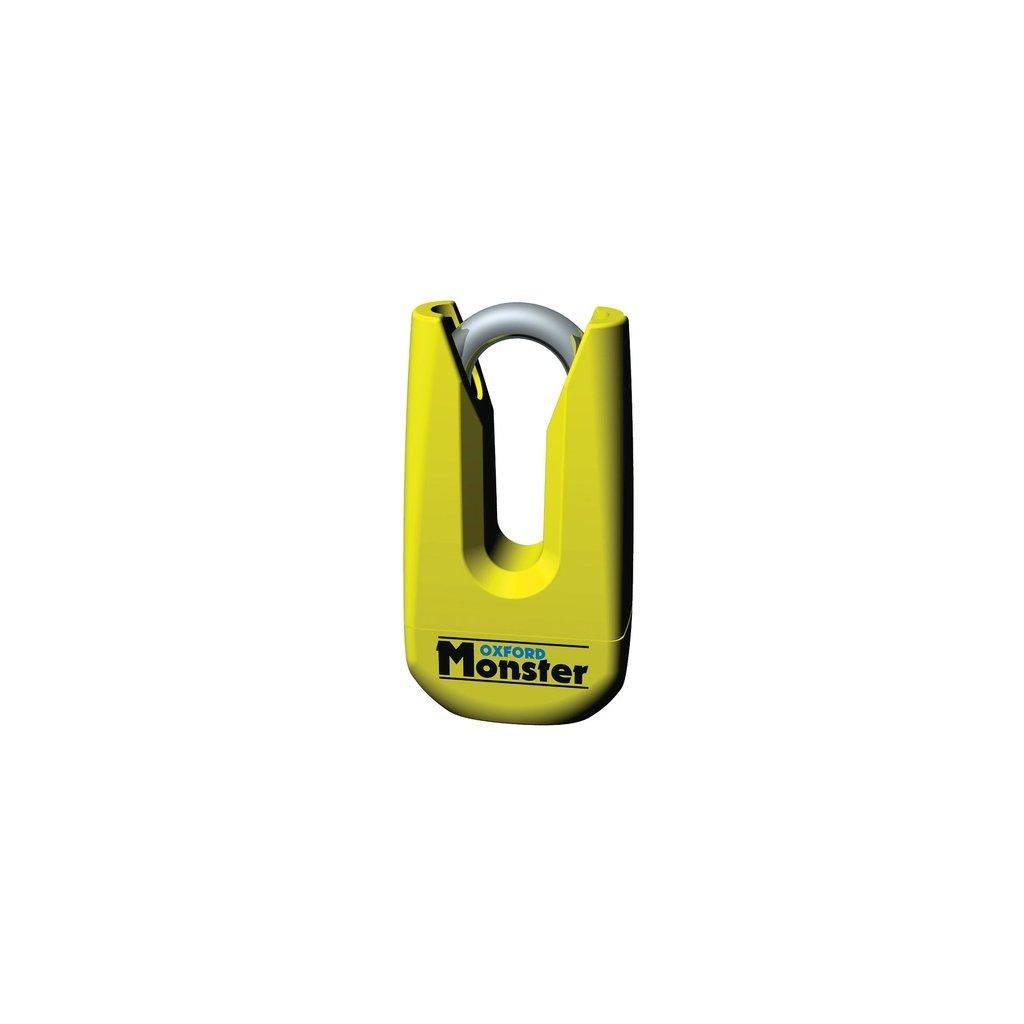 zámek kotoučové brzdy Monster, OXFORD - Anglie (průměr čepu 11 mm, žlutý)