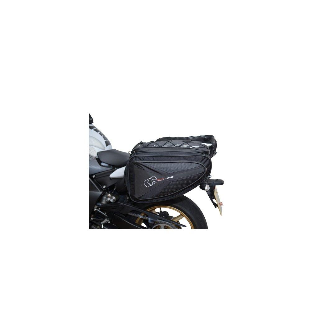 boční brašny na motocykl P60R, OXFORD - Anglie (černé, objem 60 l, pár)