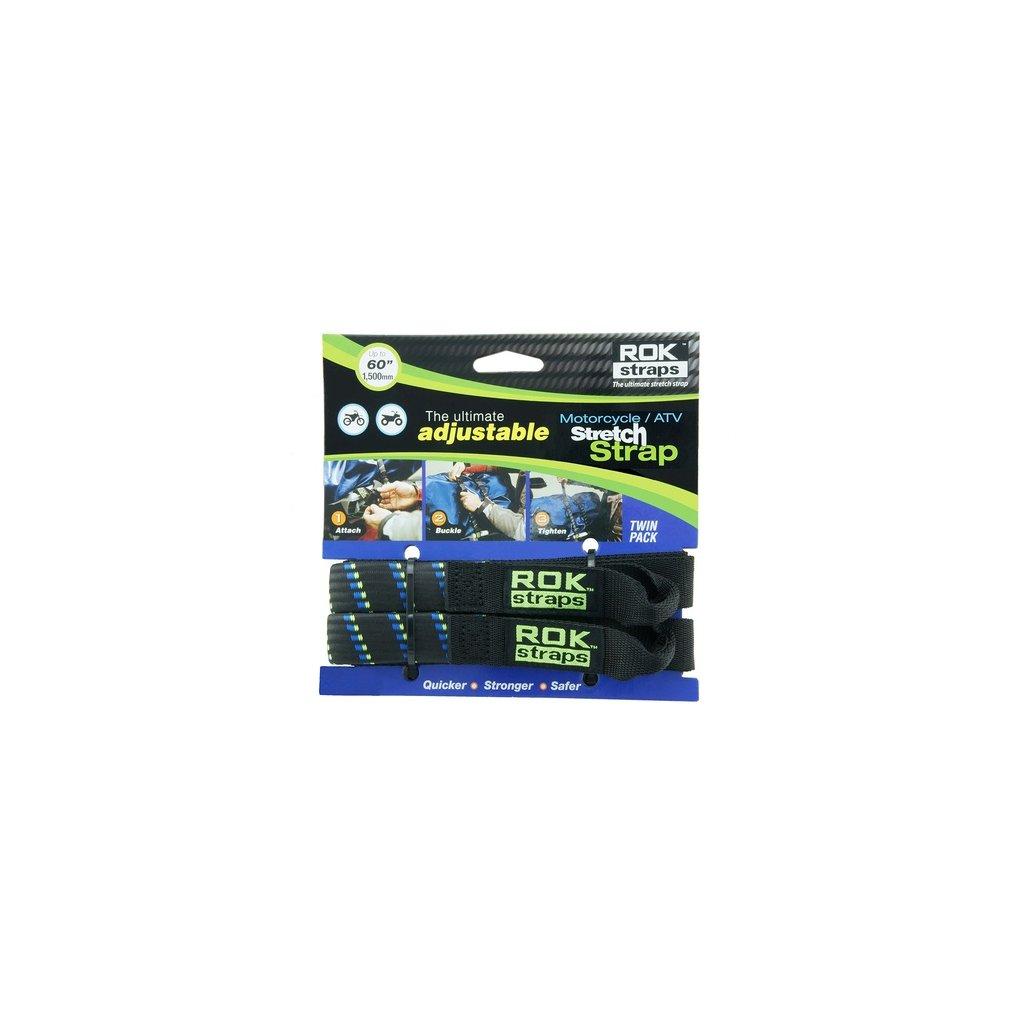 popruhy ROK straps MD nastavitelné, OXFORD - Anglie (černá/modrá/zelená, šířka 16 mm, pár)