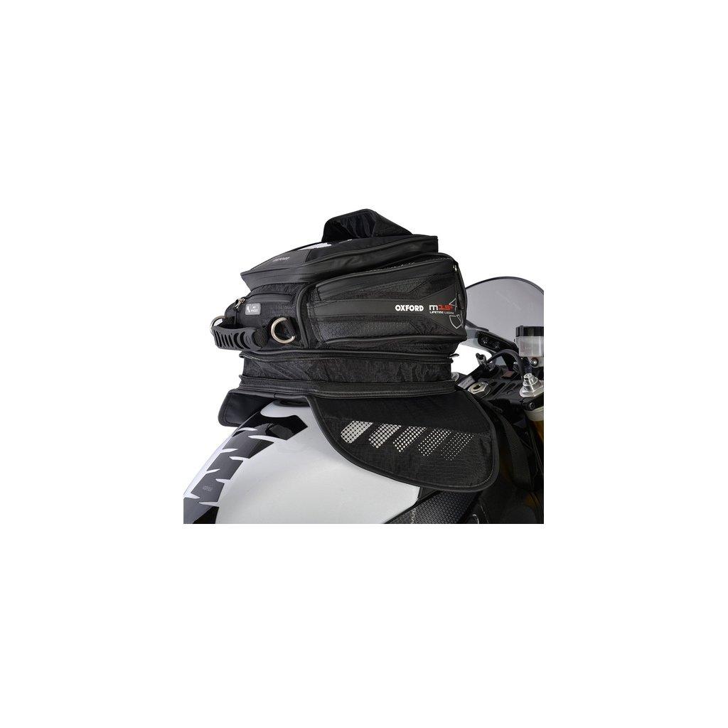 tankbag na motocykl M15R, OXFORD - Anglie (černý, s magnetickou základnou, objem 15 l)