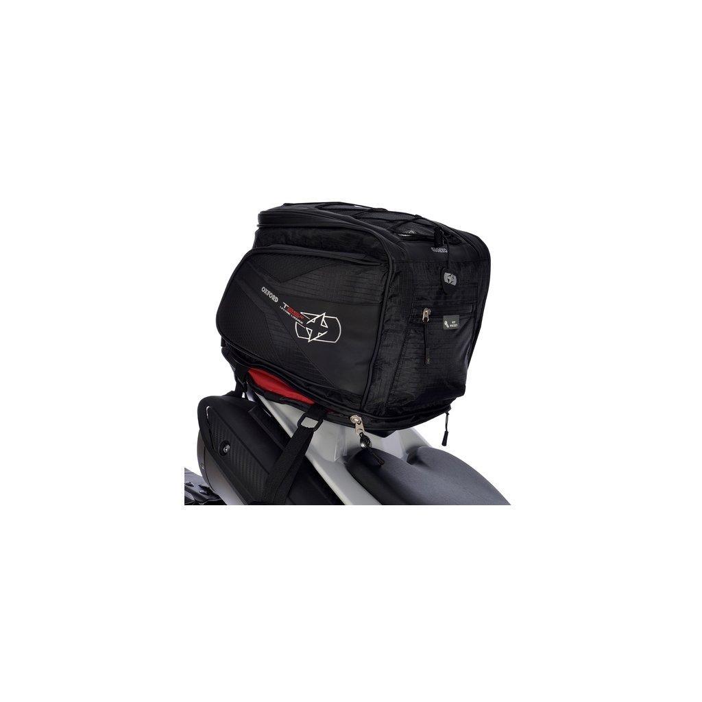 brašna na sedlo spolujezdce T25R Tailpack, OXFORD - Anglie (černá, objem 25 l)