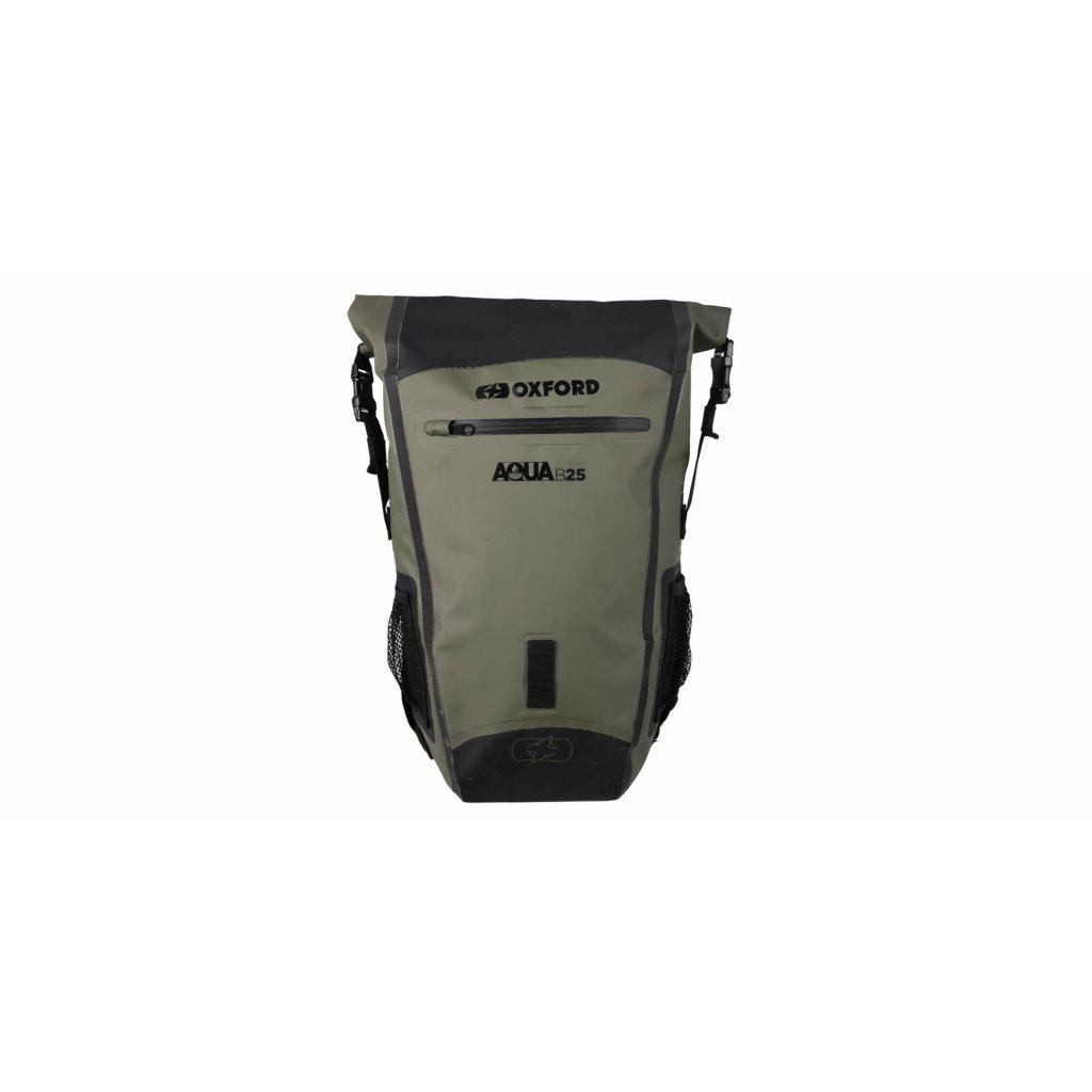 vodotěsný batoh Aqua B-25, OXFORD (khaki/černý, objem 25 l)