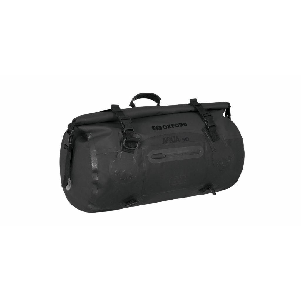 vodotěsný vak Aqua T-50 Roll Bag, OXFORD (černý, objem 50 l)