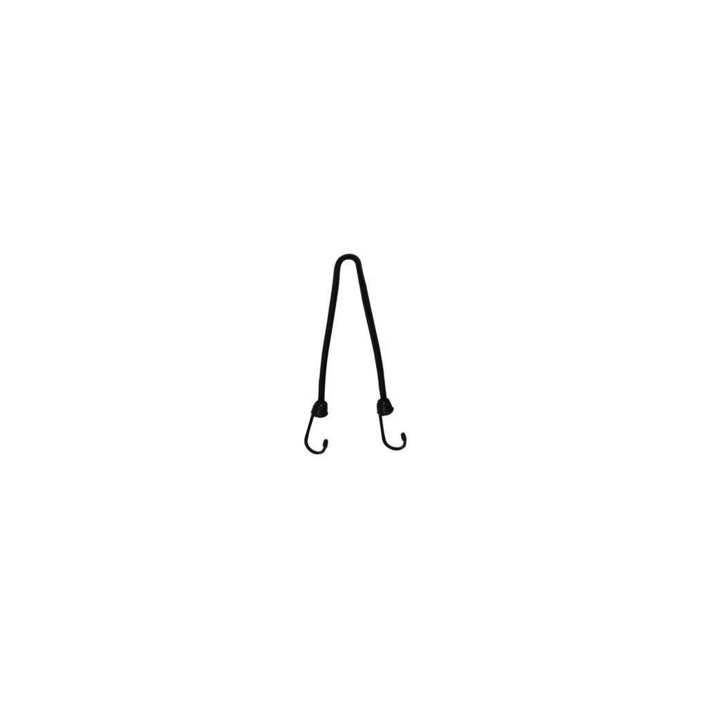 """gumicuk """"pavouk"""" délka/průměr popruhu 450/10 mm se zakončeními pomocí drátových háků, OXFORD (černý, homolo"""