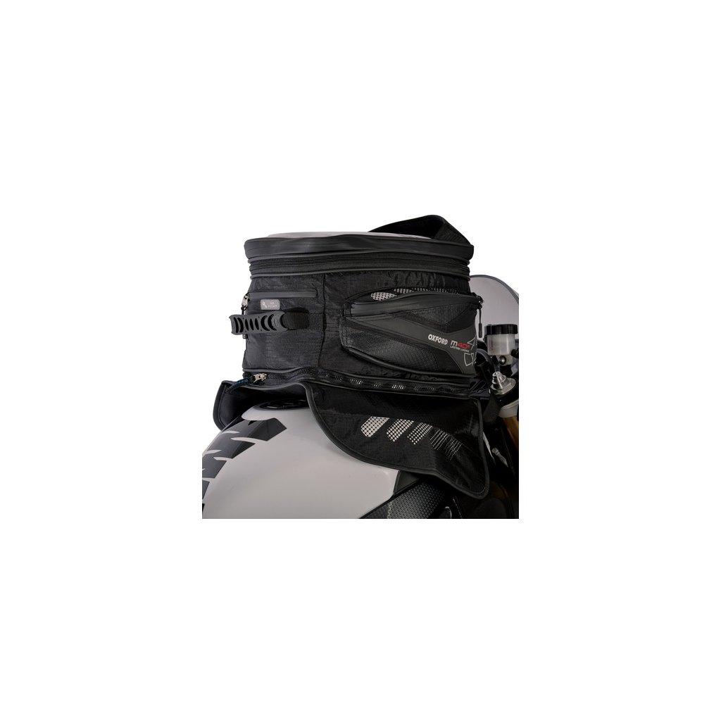 tankbag na motocykl M40R, OXFORD (černý, s magnetickou základnou, objem 40 l)