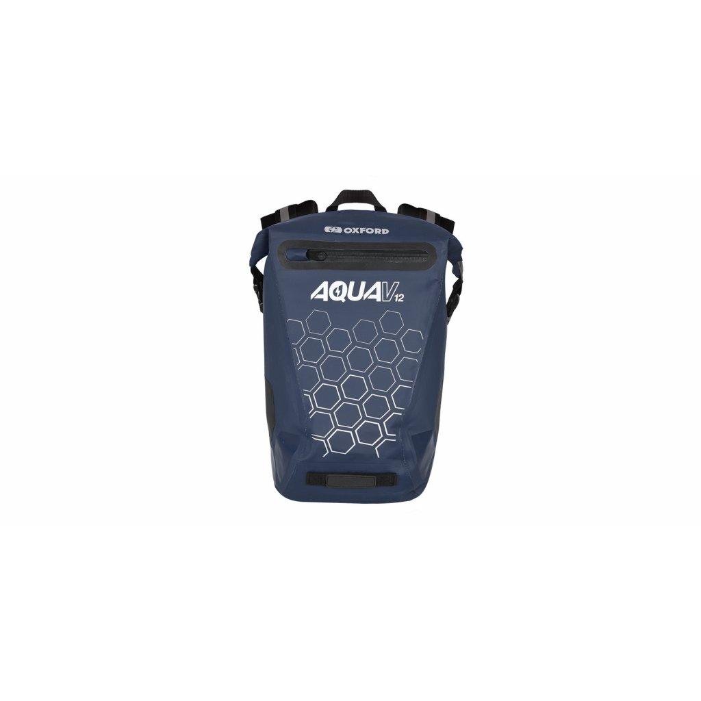 vodotěsný batoh AQUA V12, OXFORD (tmavá modrá, objem 12 L)