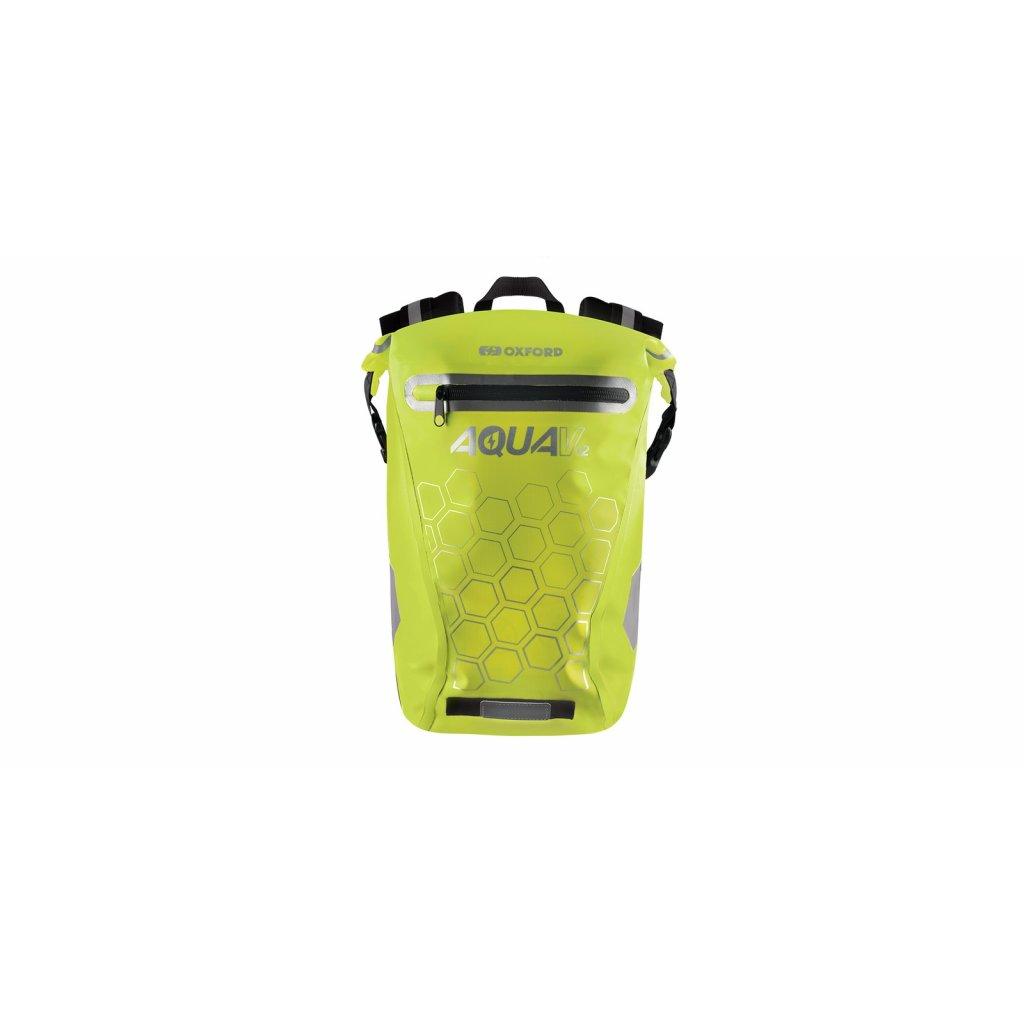 vodotěsný batoh AQUA V12, OXFORD (žlutá fluo, objem 12 L)