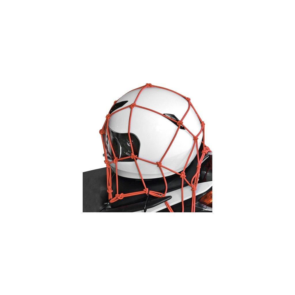 pružná zavazadlová síť pro motocykly, OXFORD - Anglie (30x30 cm, červená)