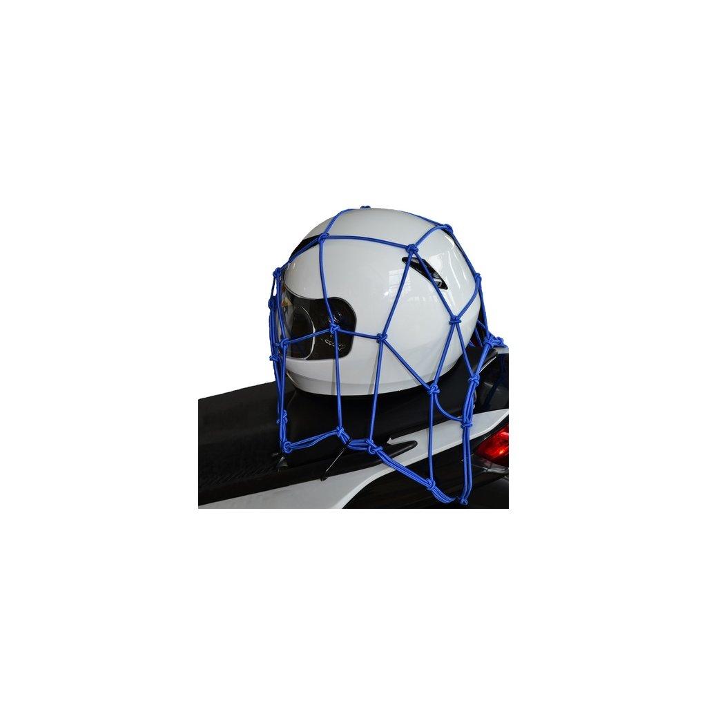 pružná zavazadlová síť pro motocykly, OXFORD - Anglie (30 x 30 cm, modrá)