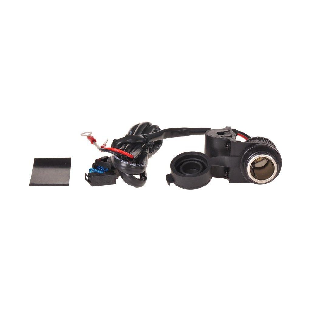 zásuvka 12V standard s objímkou pro uchycení k řidítků a trubkám o průměru 22 a 25 mm, OXFORD - Anglie