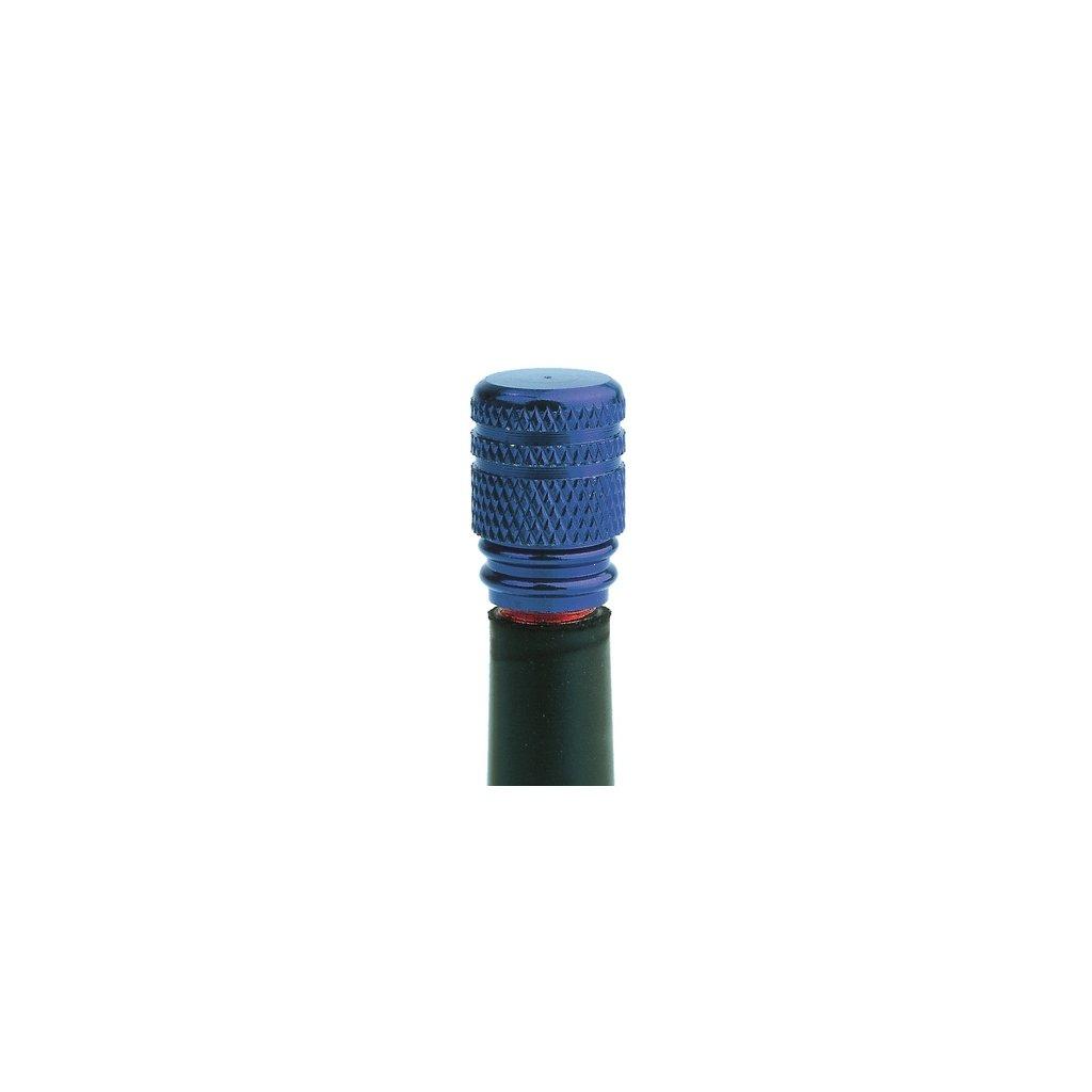 kovové čepičky ventilků, OXFORD - Anglie (modrý elox, pár)