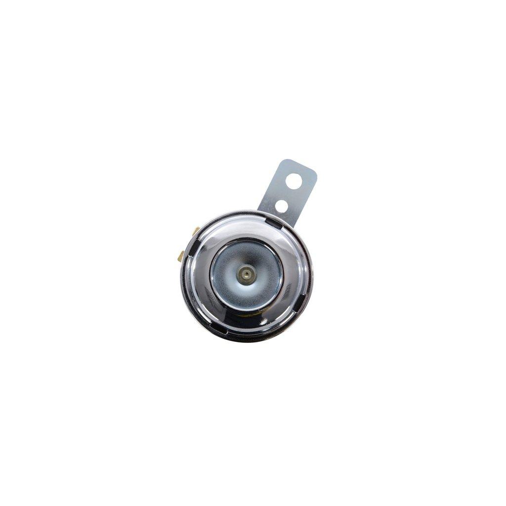 klakson 12V, 100dB, průměr 70 mm, OXFORD - Anglie (chrom)